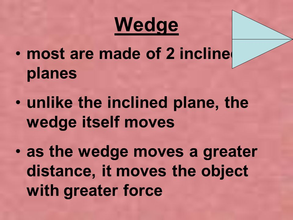 Wedge most are made of 2 inclined planes