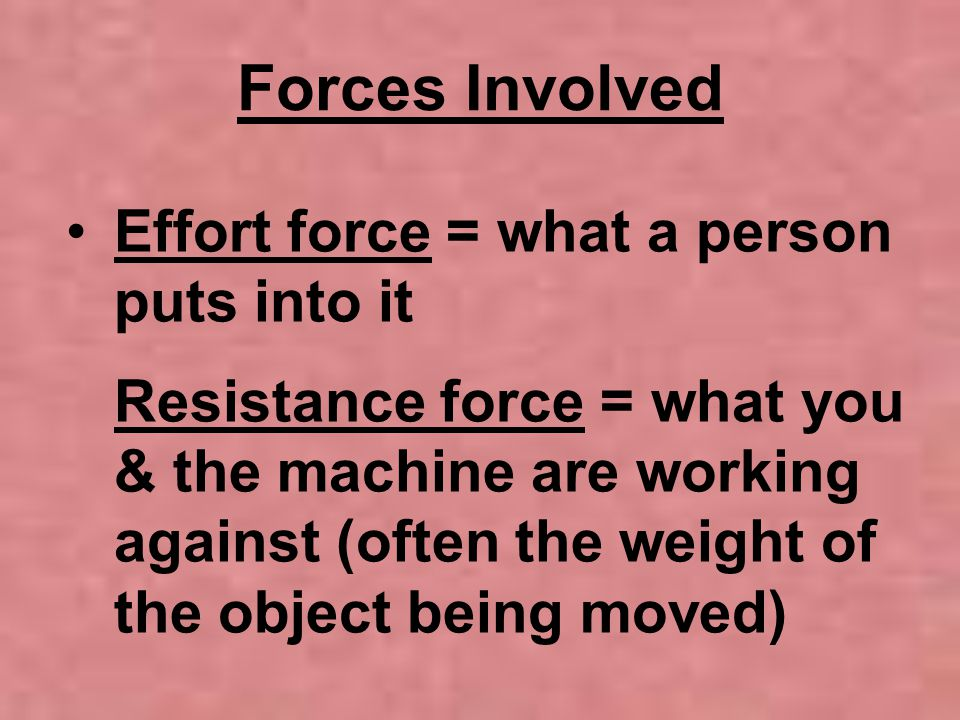 Forces Involved
