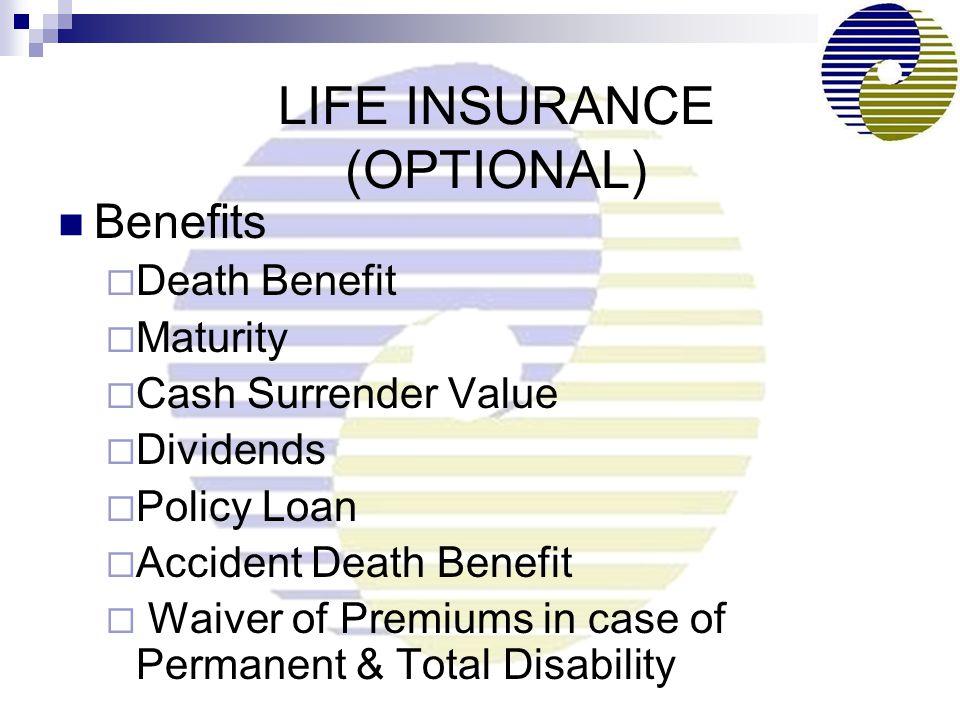 LIFE INSURANCE (OPTIONAL)
