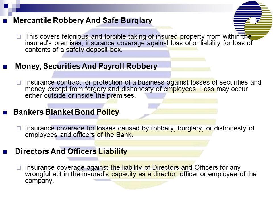 Mercantile Robbery And Safe Burglary