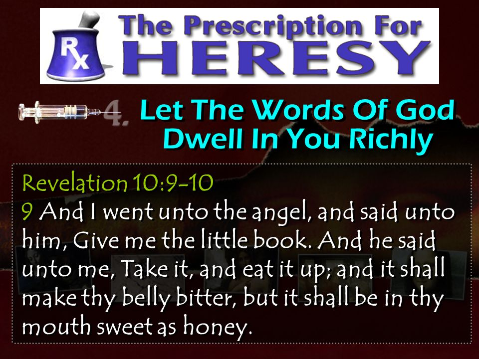 Let The Words Of God Dwell In You Richly