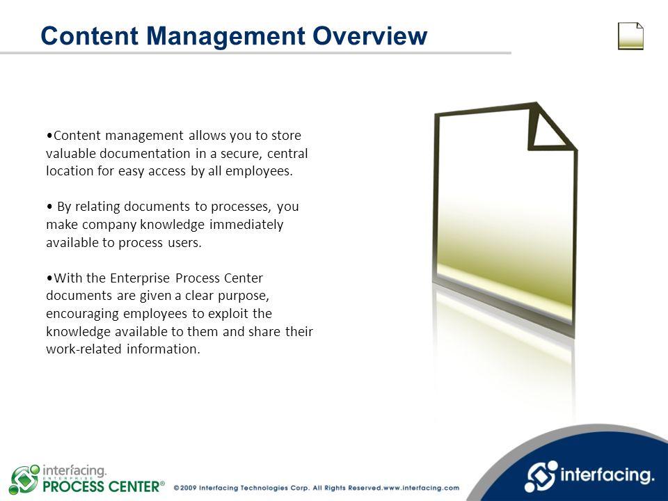 Content Management Overview