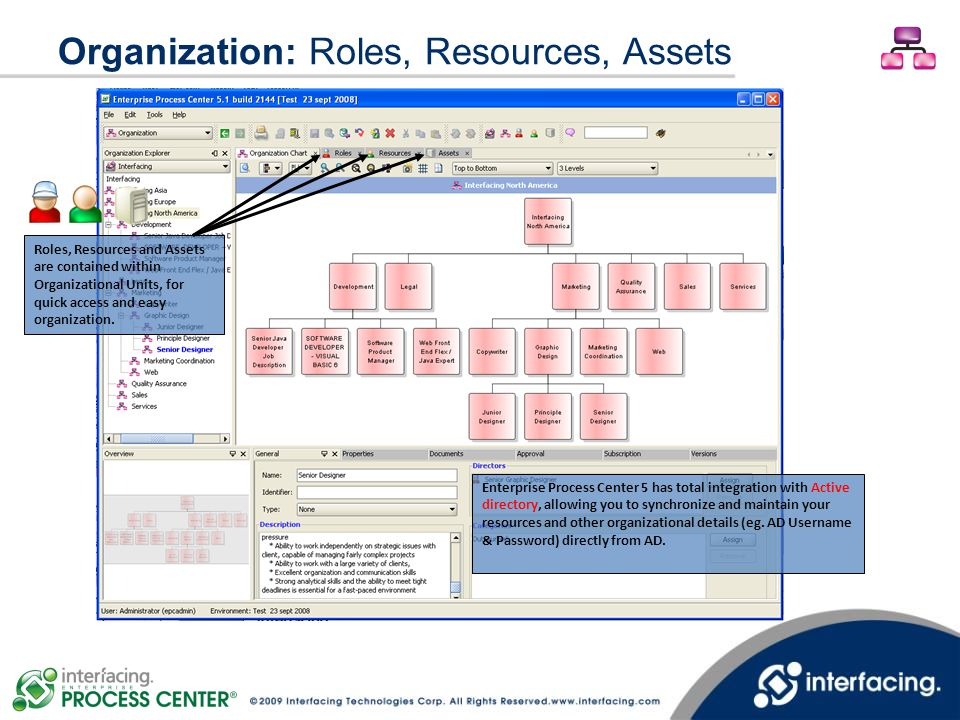 Organization: Roles, Resources, Assets