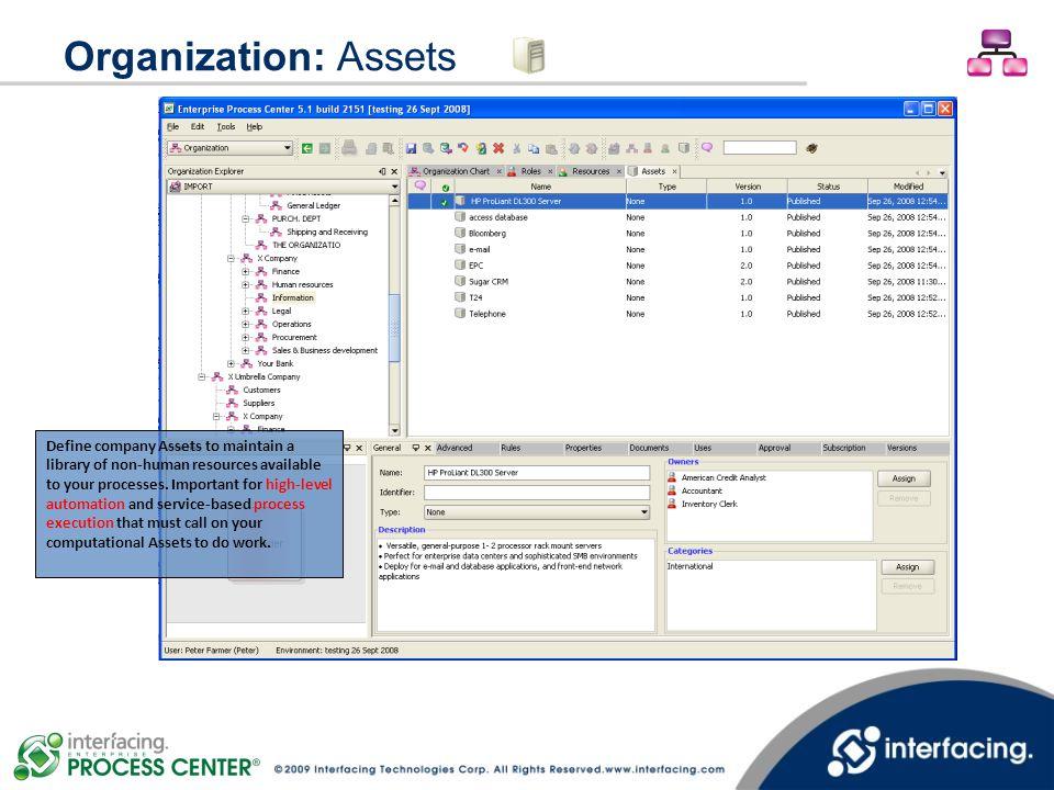 Organization: Assets