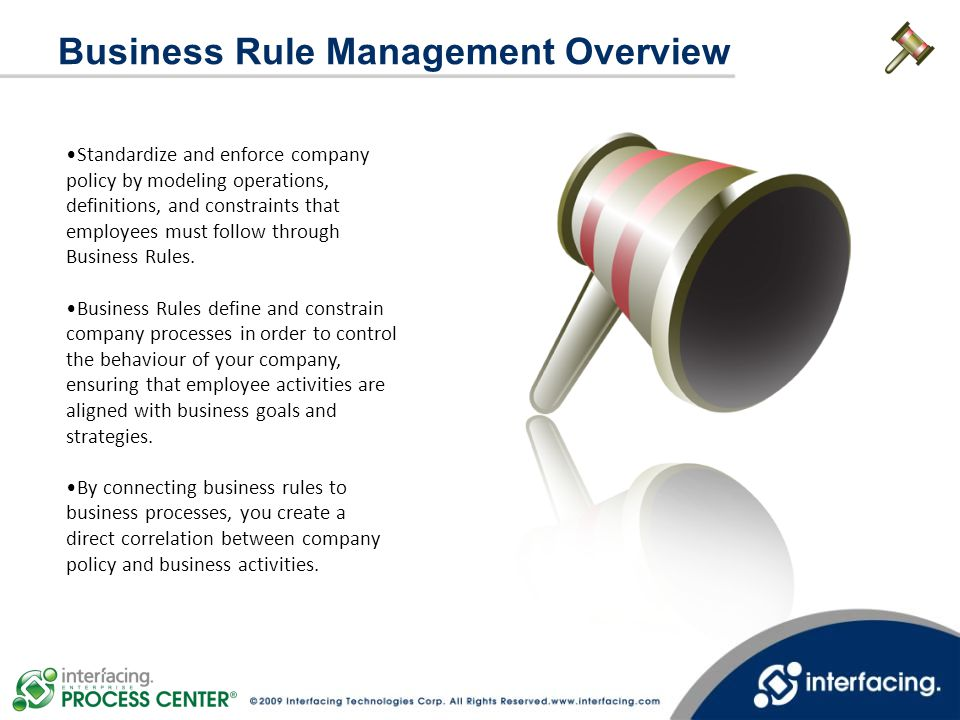 Business Rule Management Overview