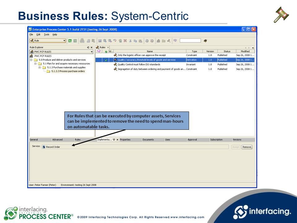 Business Rules: System-Centric