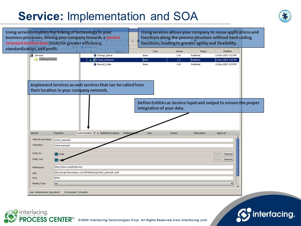 Service: Implementation and SOA