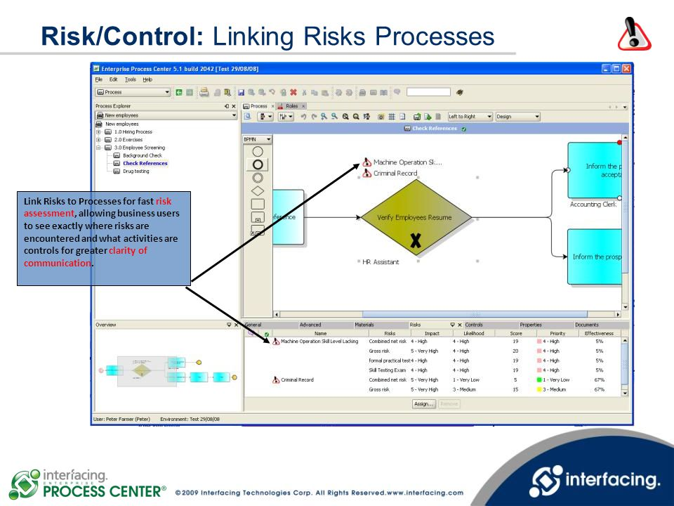 Risk/Control: Linking Risks Processes