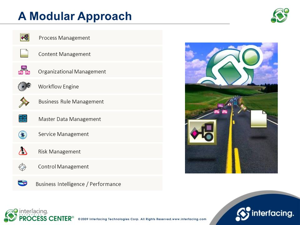 A Modular Approach Process Management Content Management