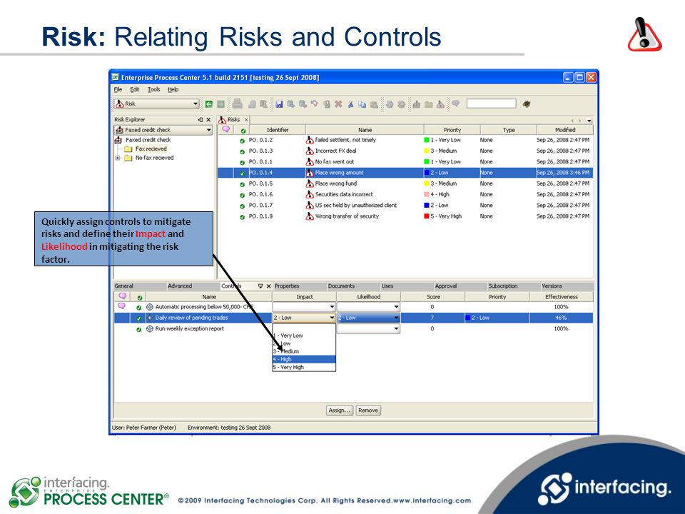 Risk: Relating Risks and Controls