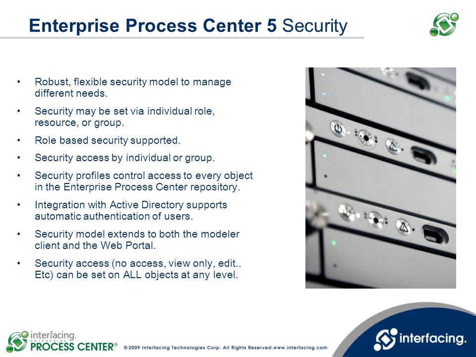 Enterprise Process Center 5 Security