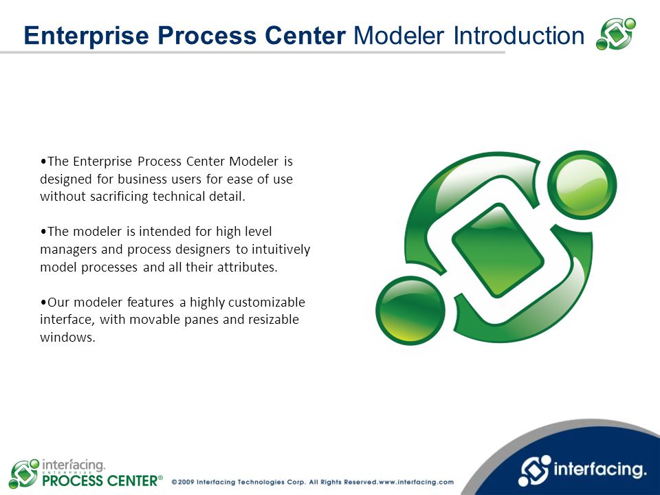 Enterprise Process Center Modeler Introduction