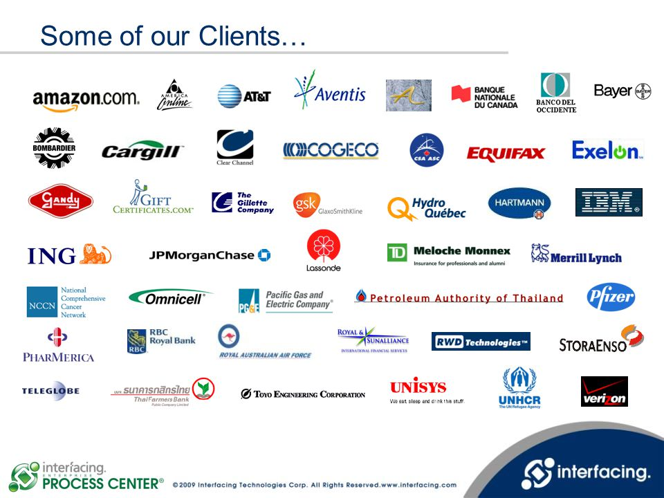 Some of our Clients…