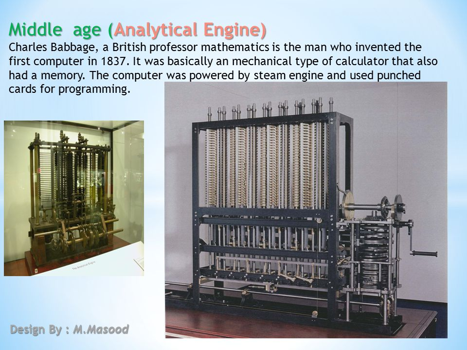 Middle age (Analytical Engine)