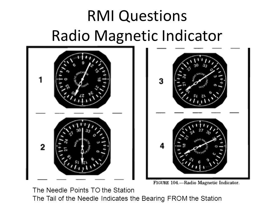 RMI Questions Radio Magnetic Indicator