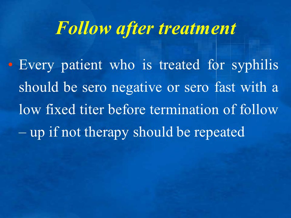 Follow after treatment