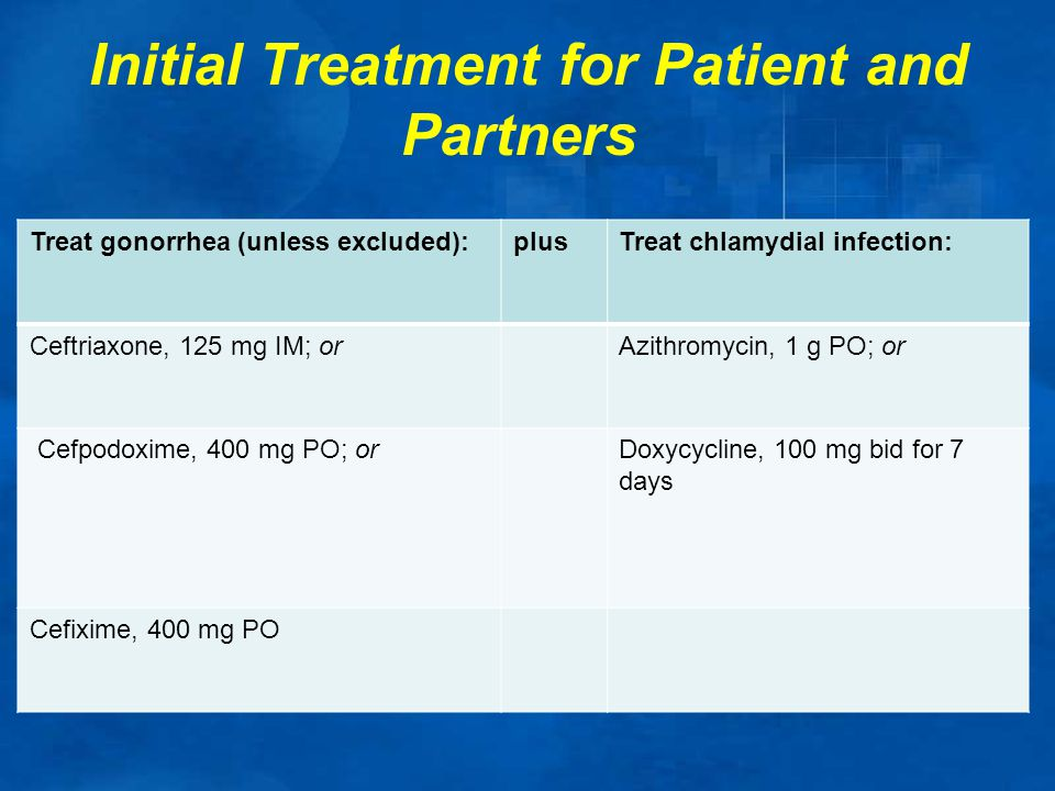 Initial Treatment for Patient and Partners