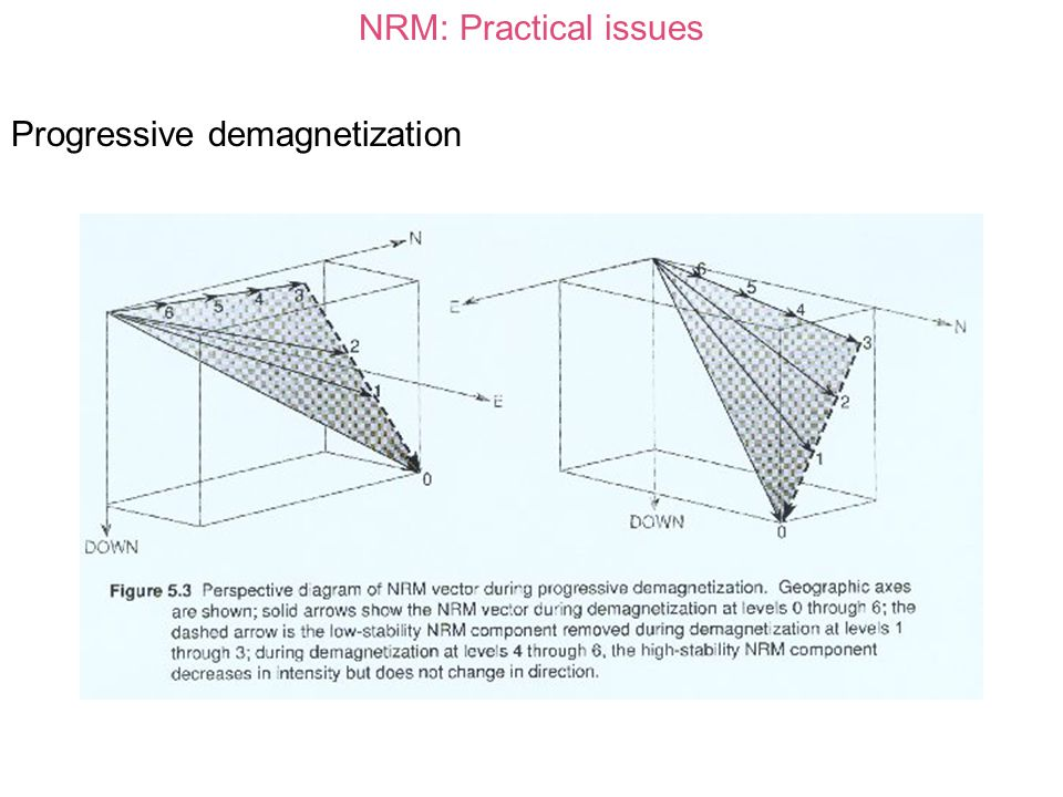 NRM: Practical issues Progressive demagnetization