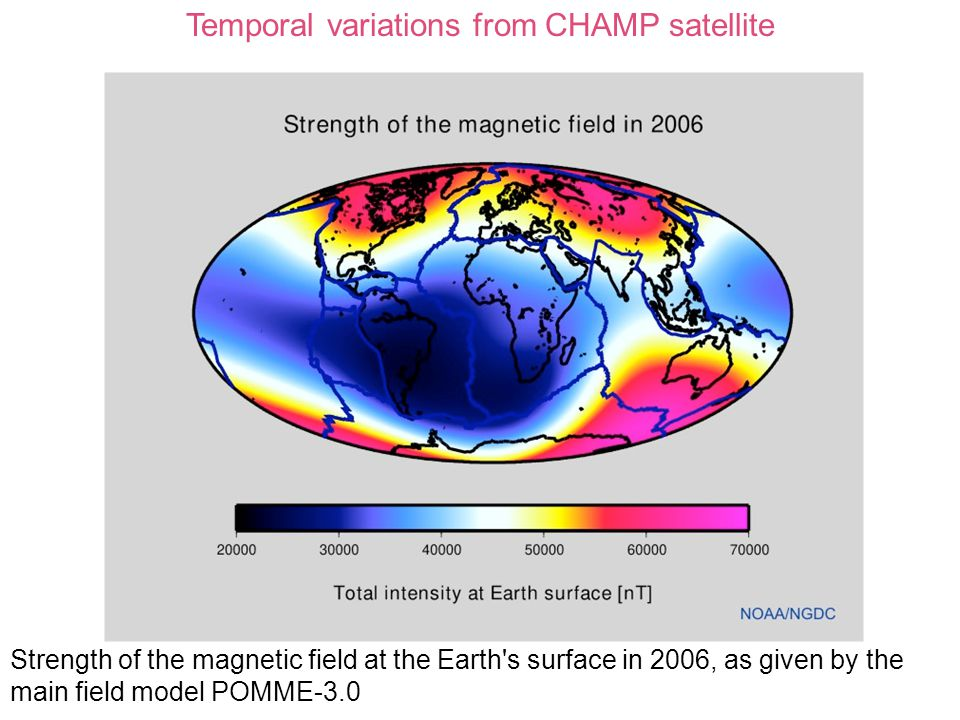 Temporal variations from CHAMP satellite