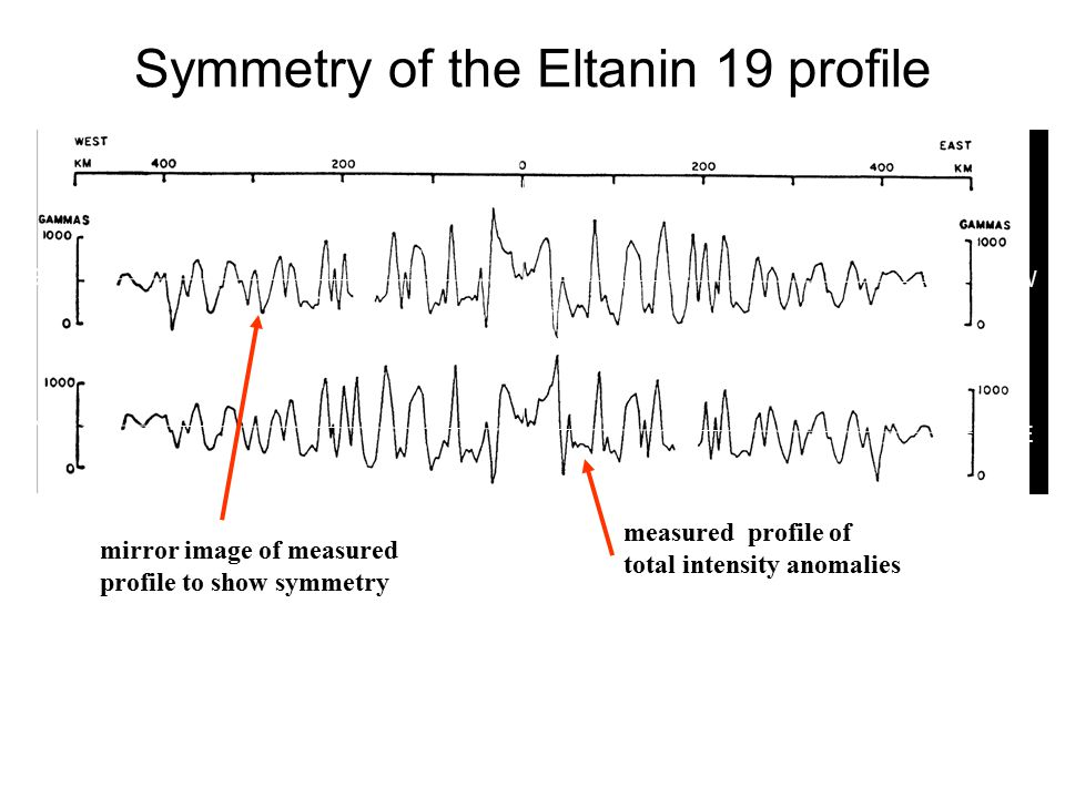 Symmetry of the Eltanin 19 profile