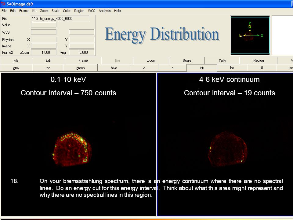 Energy Distribution 0.1-10 keV Contour interval – 750 counts