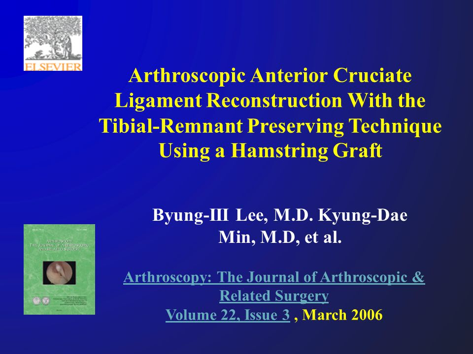 Byung-III Lee, M.D. Kyung-Dae Min, M.D, et al.