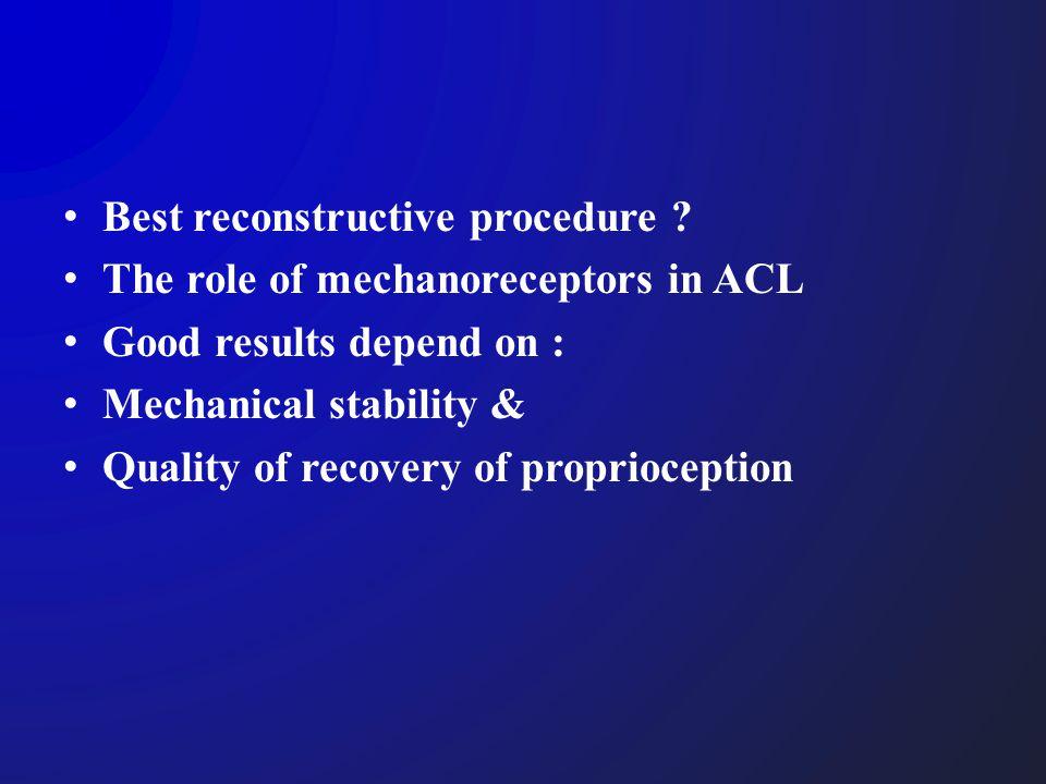 Best reconstructive procedure