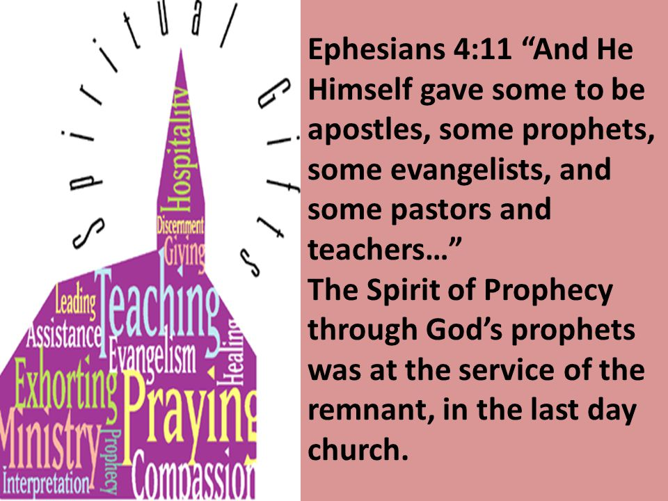 Ephesians 4:11 And He Himself gave some to be apostles, some prophets, some evangelists, and some pastors and teachers…