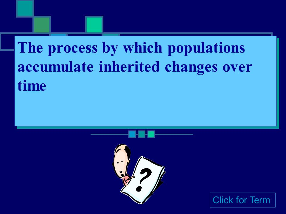 The process by which populations accumulate inherited changes over time