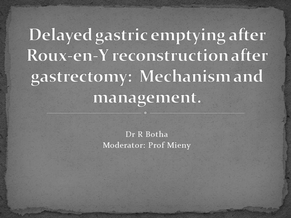 Dr R Botha Moderator: Prof Mieny