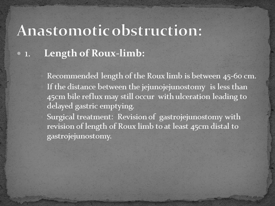Anastomotic obstruction: