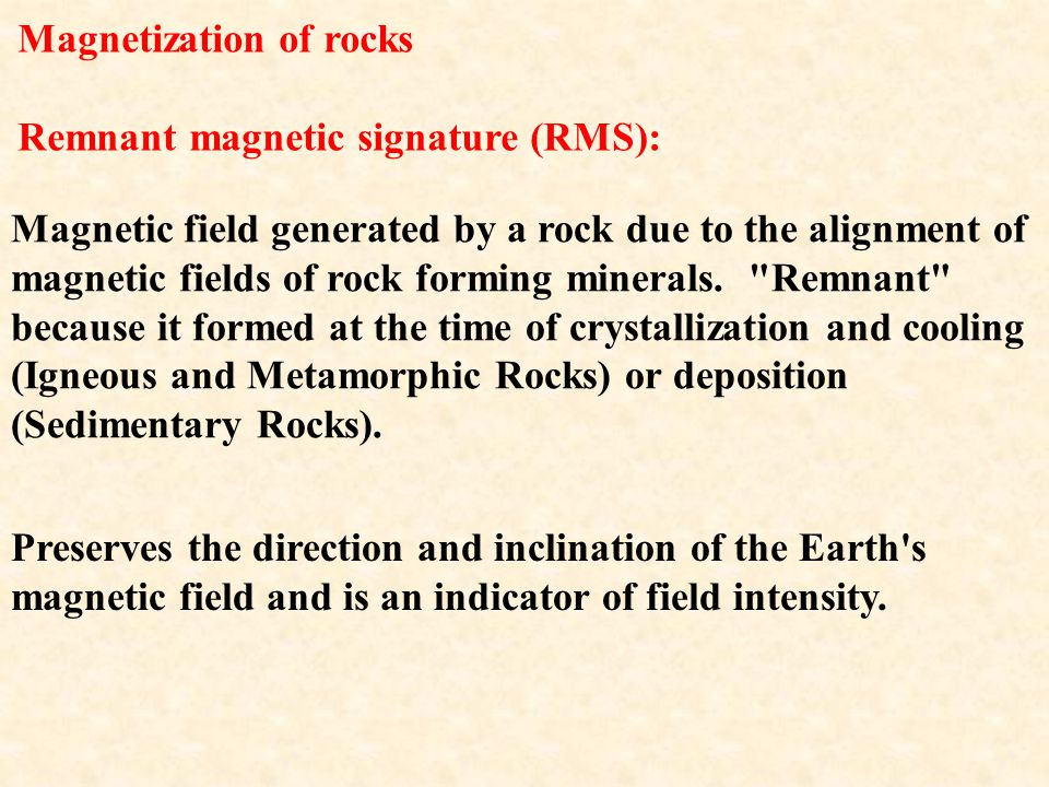 Magnetization of rocks
