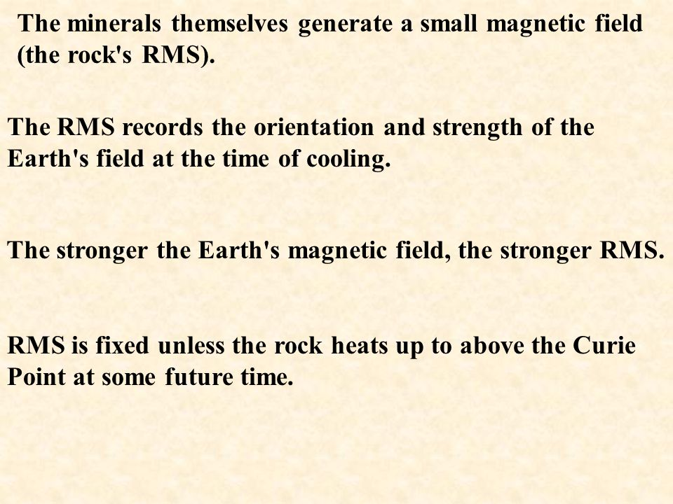 The minerals themselves generate a small magnetic field (the rock s RMS).