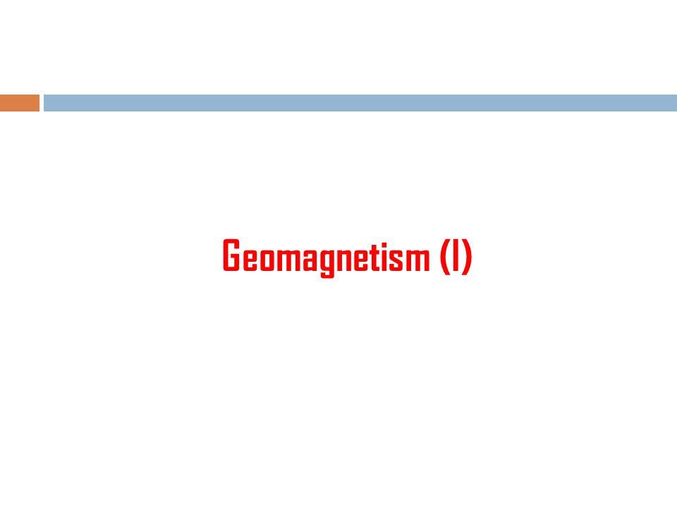 Geomagnetism (I)