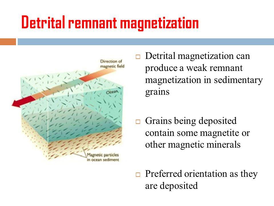 Detrital remnant magnetization