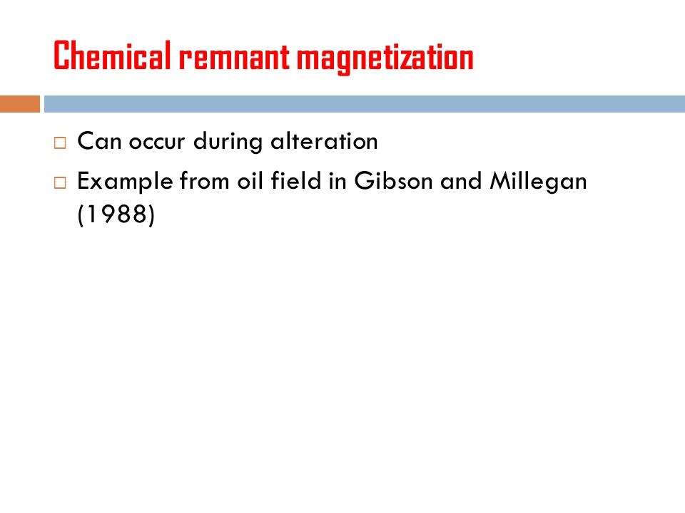 Chemical remnant magnetization