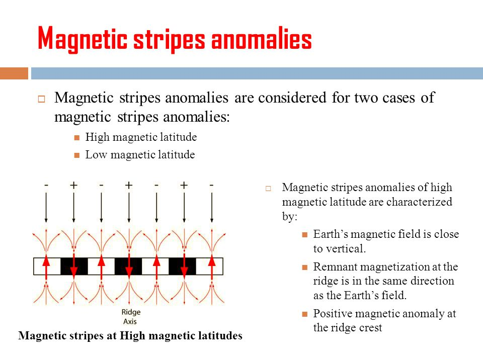 Magnetic stripes anomalies