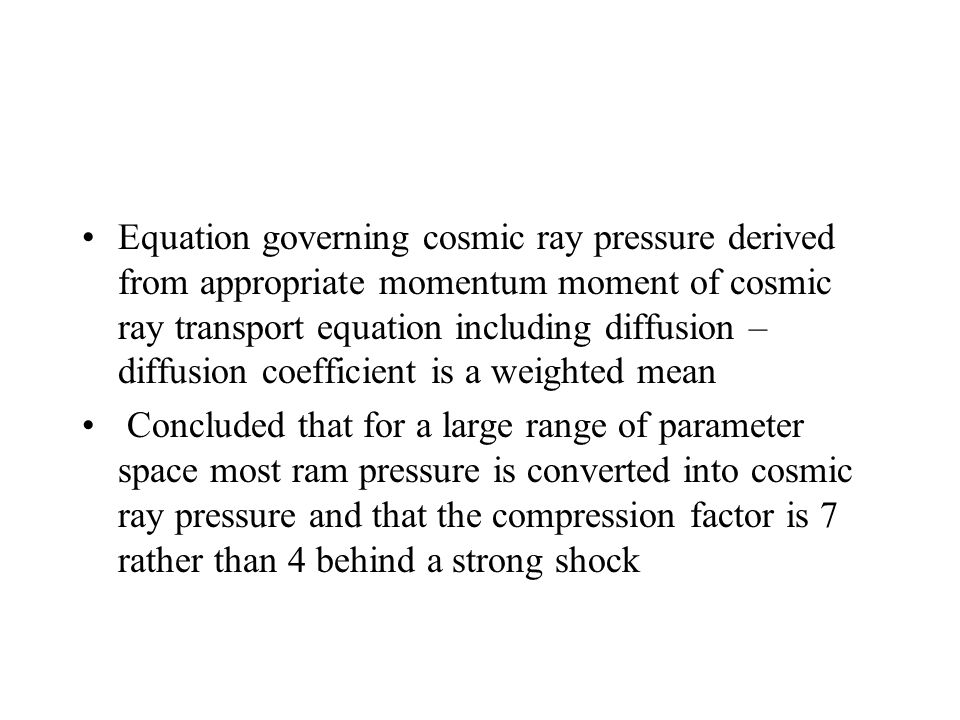 Equation governing cosmic ray pressure derived from appropriate momentum moment of cosmic ray transport equation including diffusion – diffusion coefficient is a weighted mean