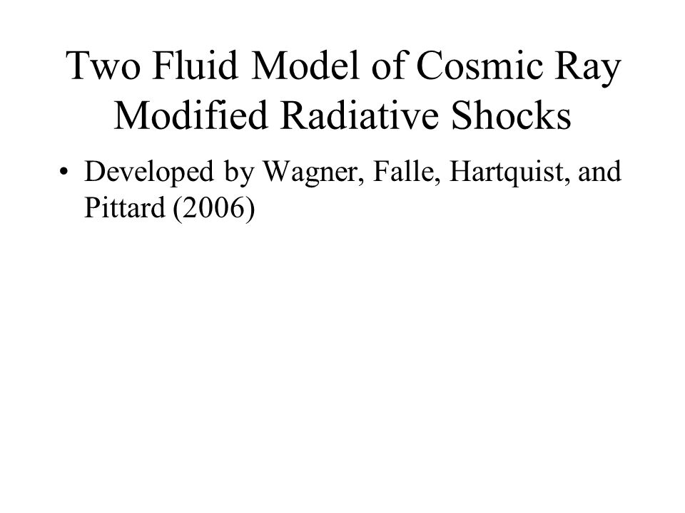 Two Fluid Model of Cosmic Ray Modified Radiative Shocks