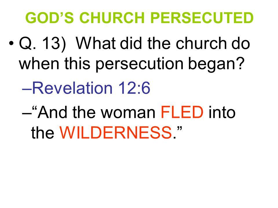 GOD'S CHURCH PERSECUTED