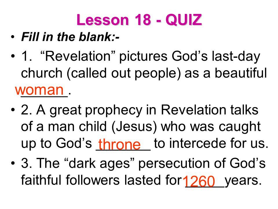 Lesson 18 - QUIZ woman throne 1260