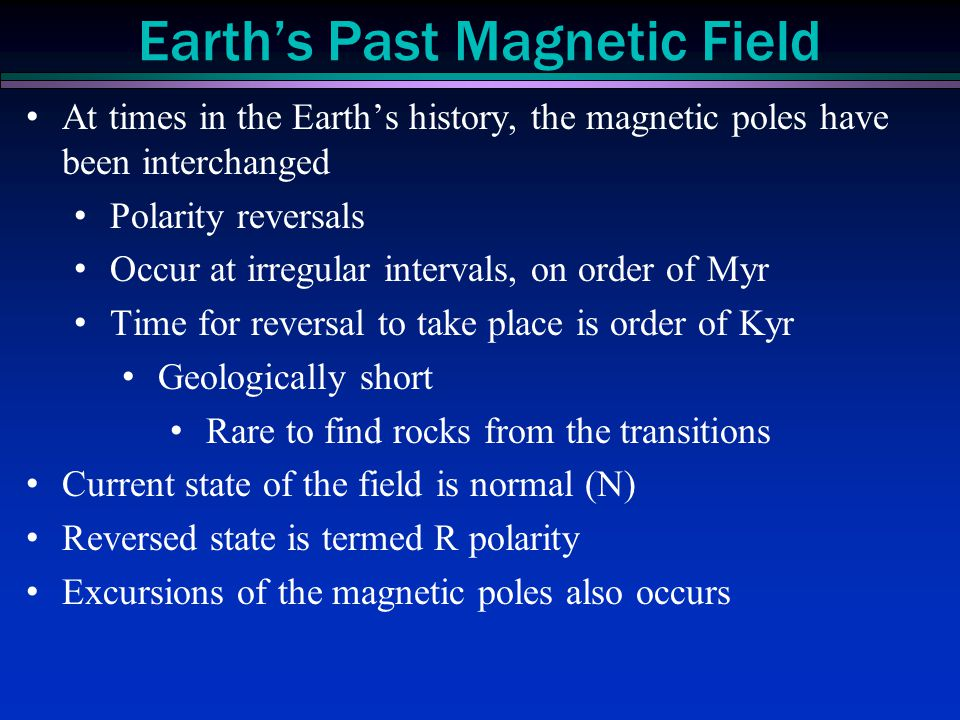 Earth's Past Magnetic Field