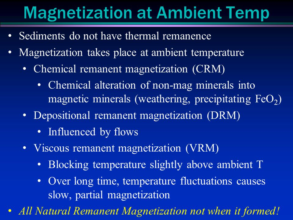 Magnetization at Ambient Temp