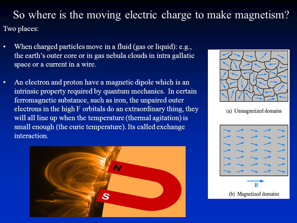 So where is the moving electric charge to make magnetism