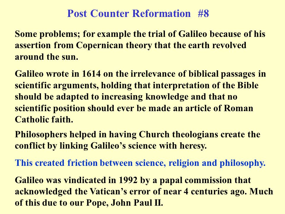 Post Counter Reformation #8