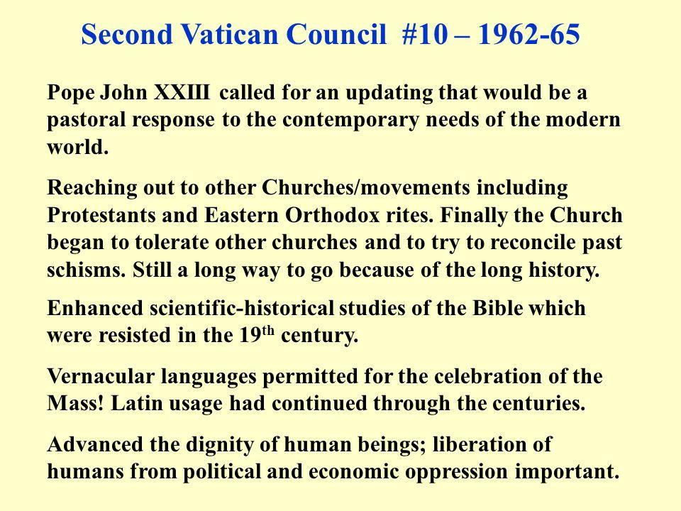Second Vatican Council #10 – 1962-65