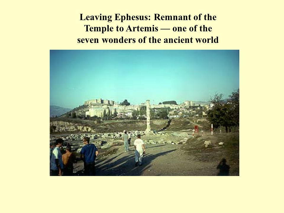 Leaving Ephesus: Remnant of the Temple to Artemis — one of the seven wonders of the ancient world