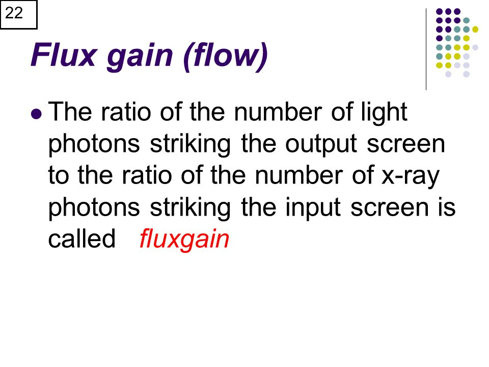 Flux gain (flow)