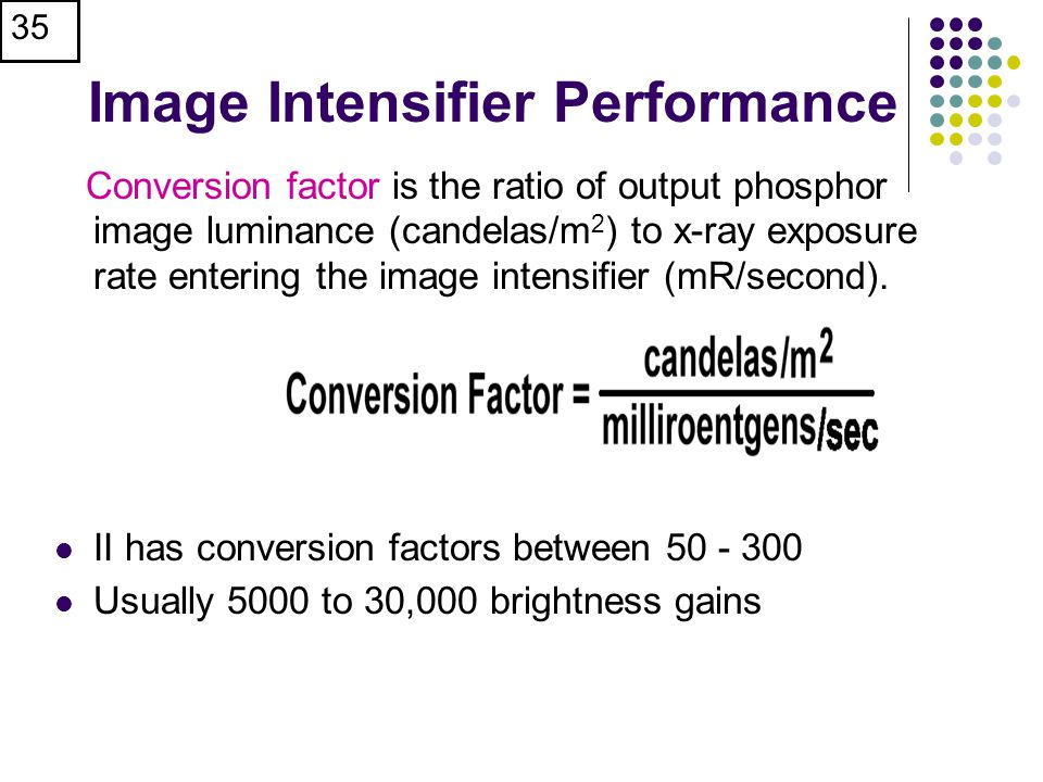 Image Intensifier Performance