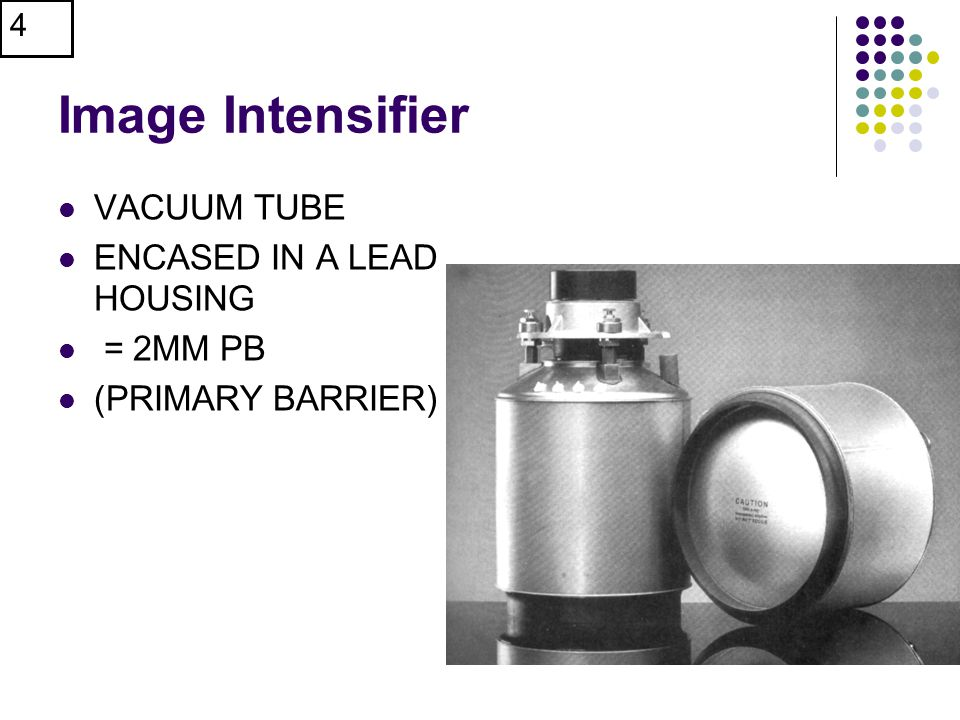 Image Intensifier VACUUM TUBE ENCASED IN A LEAD HOUSING = 2MM PB